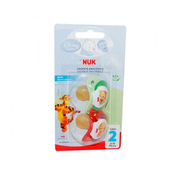 NUK DISNEY ORTHODONTIC LATEX SOOTHER SIZE 2 2 PACK