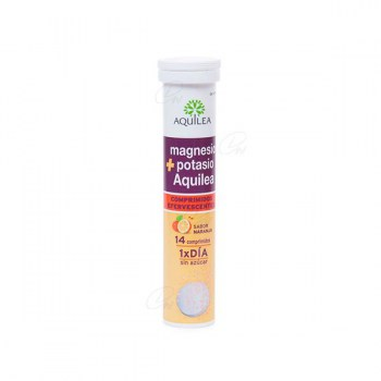 AQUILEA MAGNESIUM AND POTASSIUM 14 EFFERVESCENT TABLETS