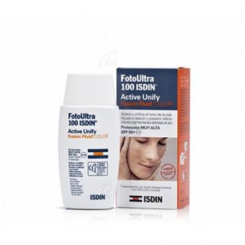 FOTO ULTRA 100 ISDIN ACTIVE UNIFY COLOR FUSION FLUID SPF 50+ 50 ML