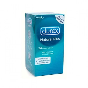 DUREX NATURAL PLUS EASY ON 24 UNITS