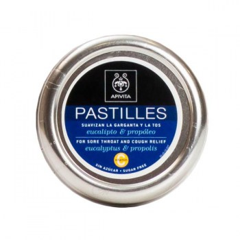 APIVITA PASTILLES FOR SORE THROAT AND COUGH RELIEF WITH EUCALIPTUS AND PROPOLIS 45G