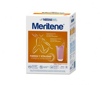 MERITENE STRAWBERRY SHAKE 30 G 15 SACHETS