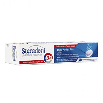 STERADENT TRIPLE ACTION PLUS 30 TABLETS
